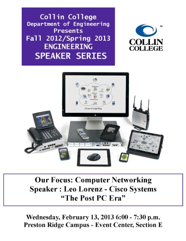 Collin College Speaker Series - Leo Lorenz - Cisco